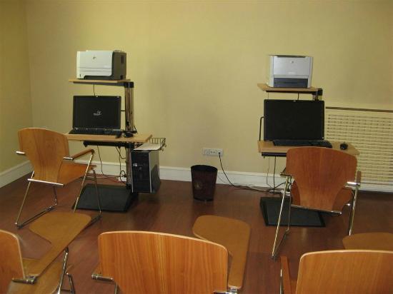 Hotel Atlantico: Sala de ordenadores