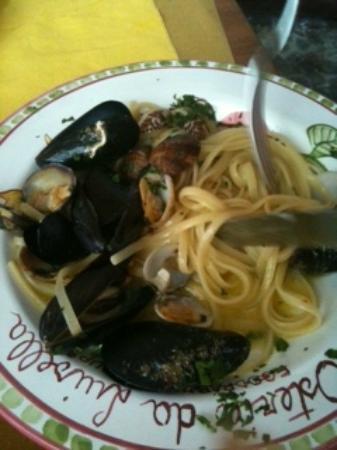Osteria da Luisella: spaghetti con vongole e cozze