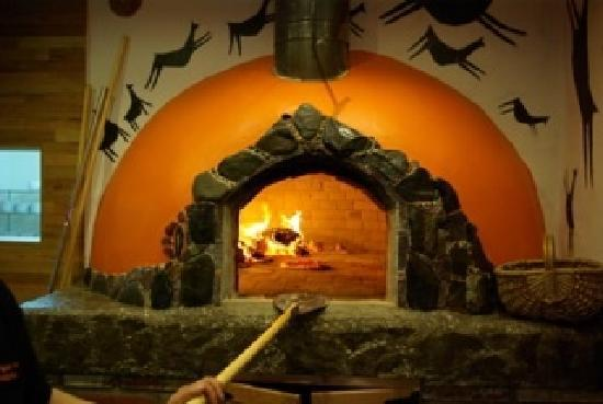 La Guanaca Pizzeria: The amazing wood fire oven