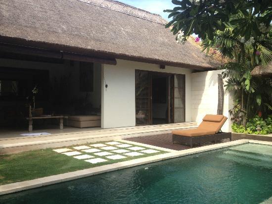 Villa Bali Asri: salon transat