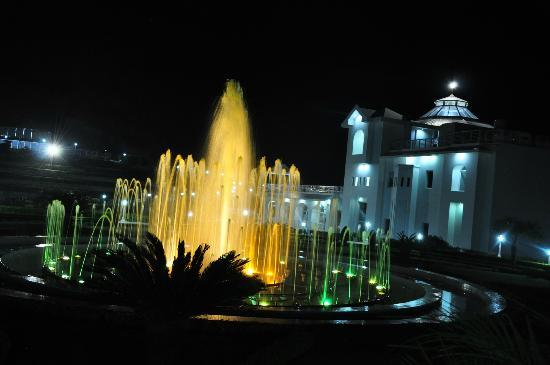 Kandaghat, India: Fountains and hotel grounds