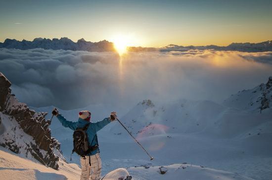 Mont Gele Verbier : Skier