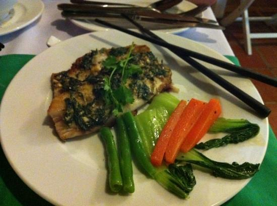 Hoi An Restaurant - Blue Gecko: mint and basil fish. awesome.