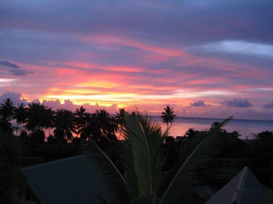 Tapu Lodge: coucher de soleil