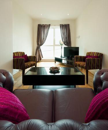 Jameson Court Apartments: One Bedroom Living Area