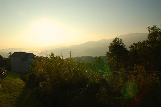 The Summit of Gatlinburg: sunrise from back deck