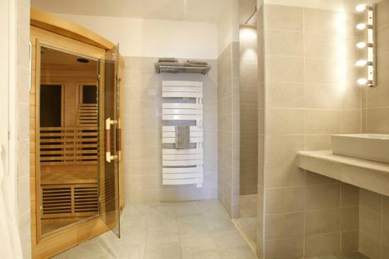 le cise salle de bain executive avec sauna infrarouge - Salle De Bain Avec Sauna
