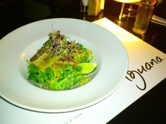 Iguana: Tuna with salad, and honey - ginger dressing