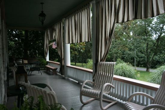 Lackawanna B&B: The front porch