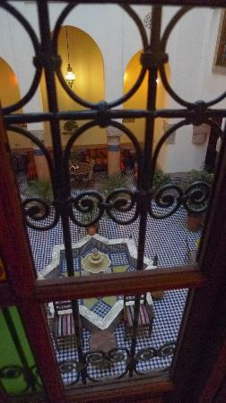 Riad Ahlam: View from the room overlooking the courtyard