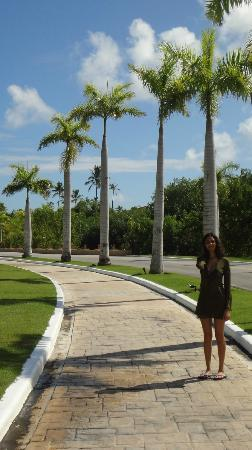 Now Larimar Punta Cana: Walking to the main lobby during the day