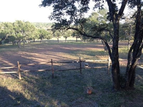 View from Chanticleer Log Cabin