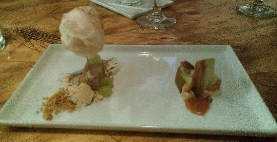 Travail Kitchen and Amusements: dessert with peanut butter and caramel
