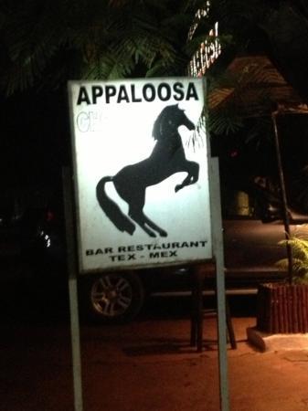 Appaloosa Restaurant: the sign