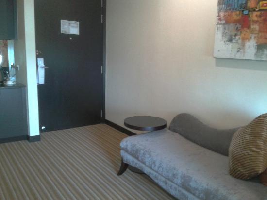 Hatten Hotel Melaka : living area with 1 flat TV