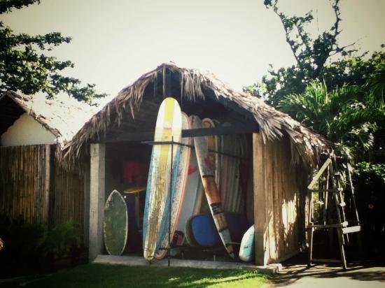 San Juan Surf Resort: the boards for rent