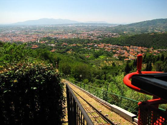 Funicolare di Montecatini Terme: A view of Montecatini from the Funicolare