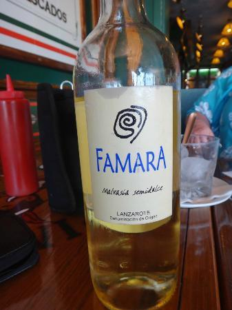 Pinocchio Restaurante Pizzeria: Excellent Wine