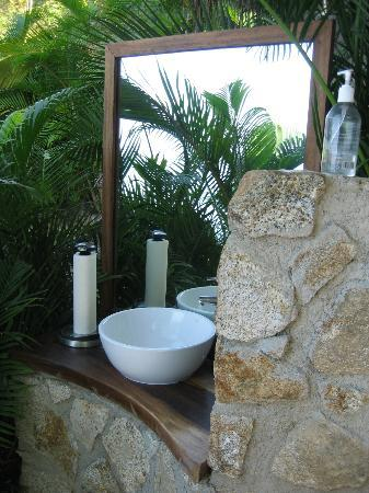 """Ocean Grill Restaurant & Beach Club: Washing your hands in """"the loo with the view!"""""""