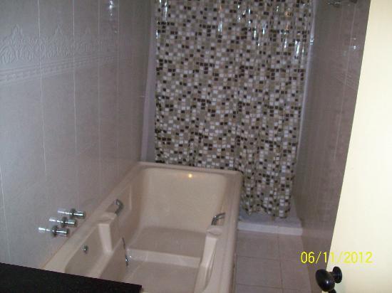 Marcopolo Suites Iguazu: Jacuzzi y ducha