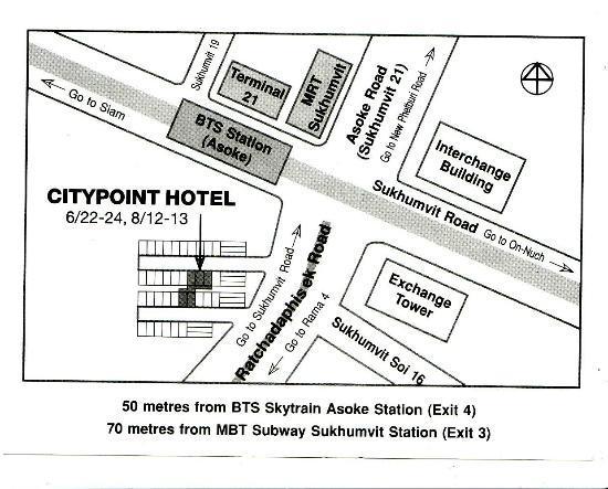 CityPoint Hotel: Da stampare per taxi retro