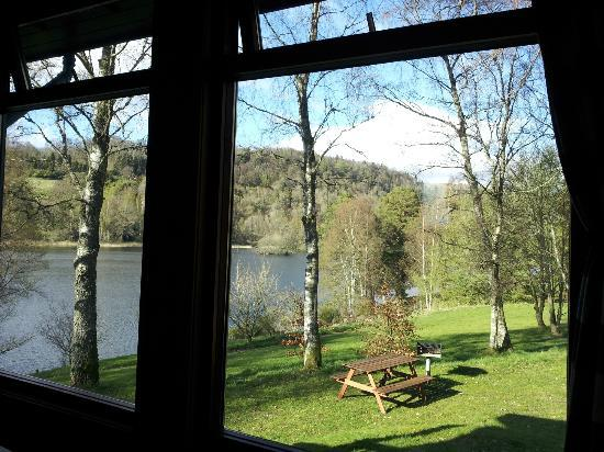 Loch Monzievaird Self Catering Lodges: April 2012. View from No 24.