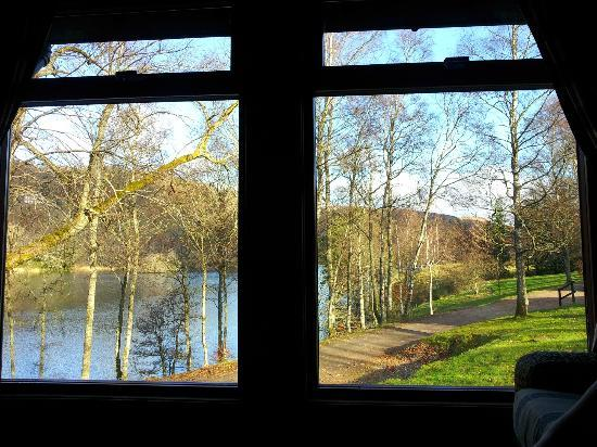 Loch Monzievaird Self Catering Lodges: February 2012. View from No 22.