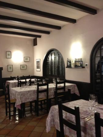 Trattoria del Fulmine: la bellissima sala del ristorante