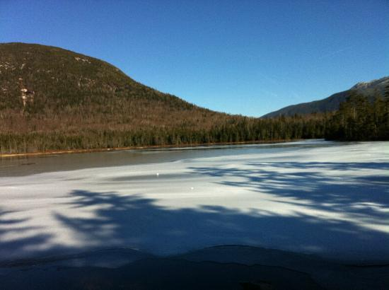 Lonesome Lake Hut: The lake