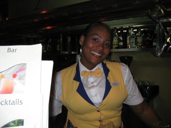 Iberostar Grand Hotel Bavaro: A free Smile, one of the bartenders