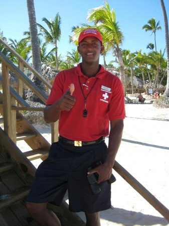 Iberostar Grand Hotel Bavaro: Life Guard and Security on grounds, Augusto