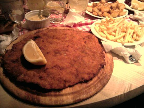Esplanada : One of the biggest snitzels I have ever seen/eaten...could not finish it