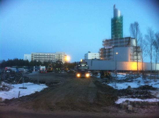 Scandic Alta: The Rica hotel in background of the NEW Northern Lights Cathedral (will open in February 2013)