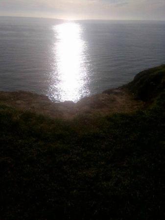 The Boat House: sun glittering on the sea beautiful