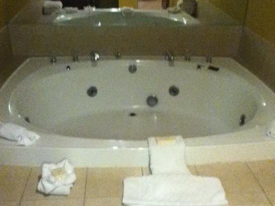 Hilton Cincinnati Airport: in room jacuzzi big enough for 3 people