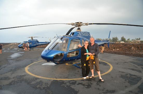 Blue Hawaiian Helicopters - Waikoloa: Hanging loose after a great flight