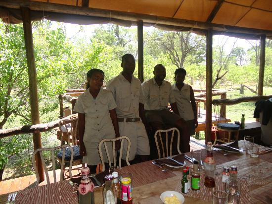 Moremi Game Reserve, Botsuana: Some of the excellent team