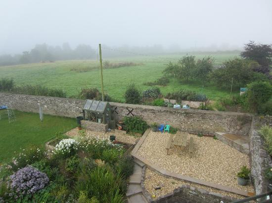 Ty Newydd B & B: View of yard from room 4