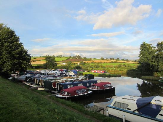 Ty Newydd B & B: Canal boat parking view from side of b&b