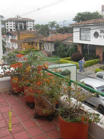 Hostal Poblado Park: view from the balcony