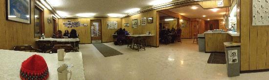 Snowshoe Inn (NWT) Ltd : A corner of the fairly large cafe