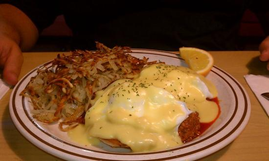 Blueberry Hill Family Restaurant Eggs Benedict With Chorizo