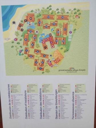 Grand Paradise Playa Dorada: Hotel map of Grand Paradise