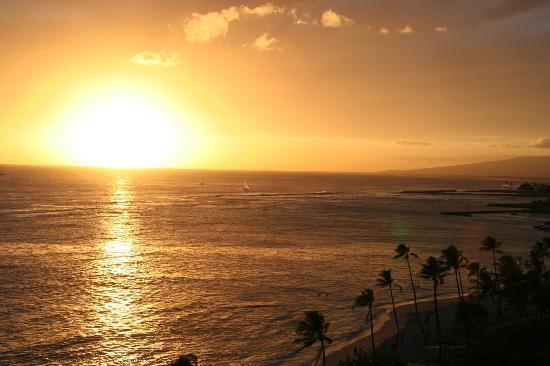View from the balcony at Waikiki Shore