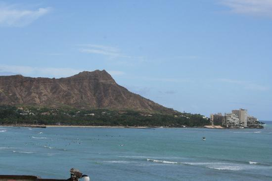 Diamond Head from our room at Waikiki Shore