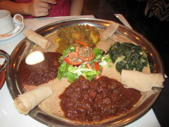 Hotel Kutuma: The platter we ordered