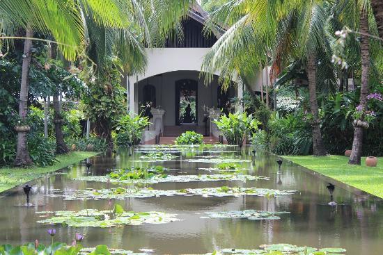 Anantara Bophut Koh Samui Resort: reception @ the end of bond, picture taken from full moon restaurant
