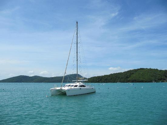 Andaman Sea Club Sailing Charters: One of Andaman Sea Club's cats