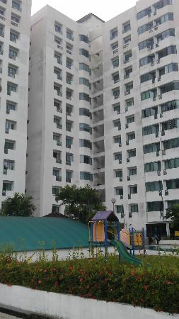 Likas Square Apartment Hotel: View from the Pool