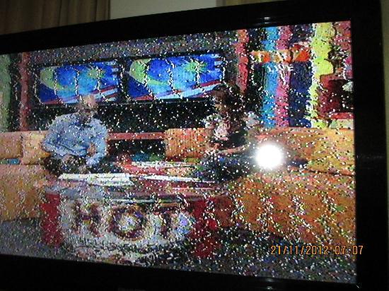 De Palma Hotel Shah Alam: Blurry and fuzzy TV image
